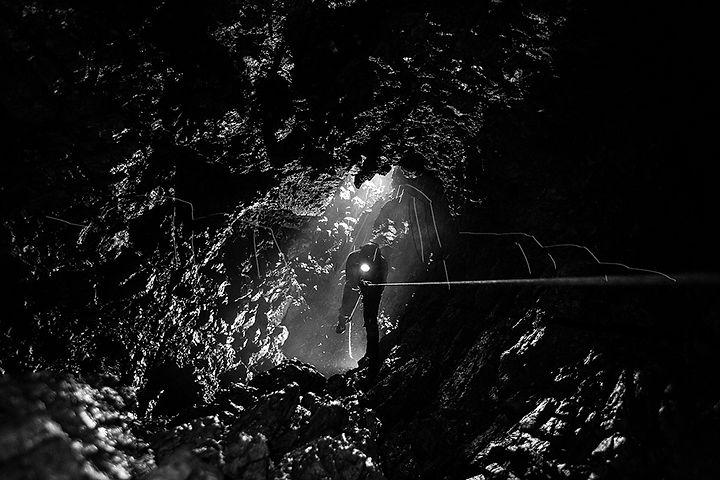 Photo exploration souterraine, spéléo, escalade, canyoning