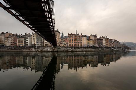Reflets sur la Saône à Lyon