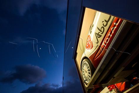 DS3 WRC dans le camion d'assistance