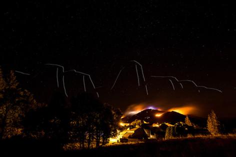 Incendie près du village de Douch sur le Caroux