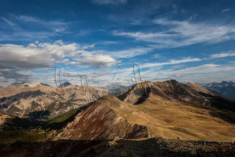 Panorama depuis le col du Granon dans les Hautes Alpes