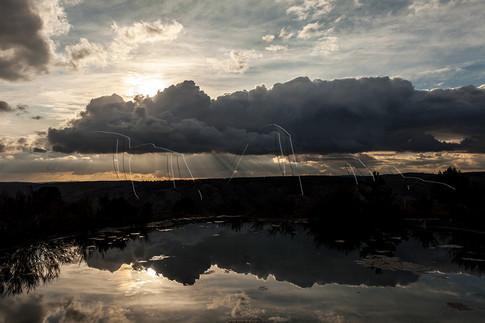 Reflets sur la montagne d'Arêt