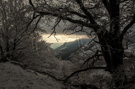Neige et givre sur le massif de l'Espinouse