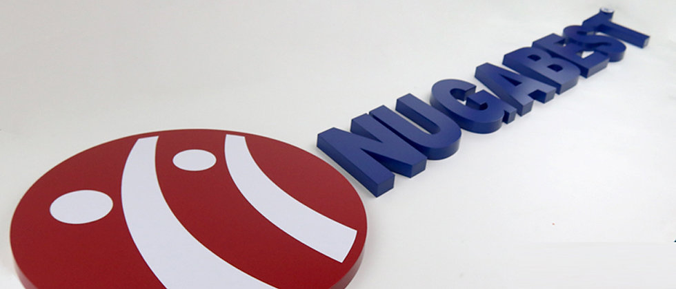 3D raised letter sign stainless steel metal letters for cabinet sign
