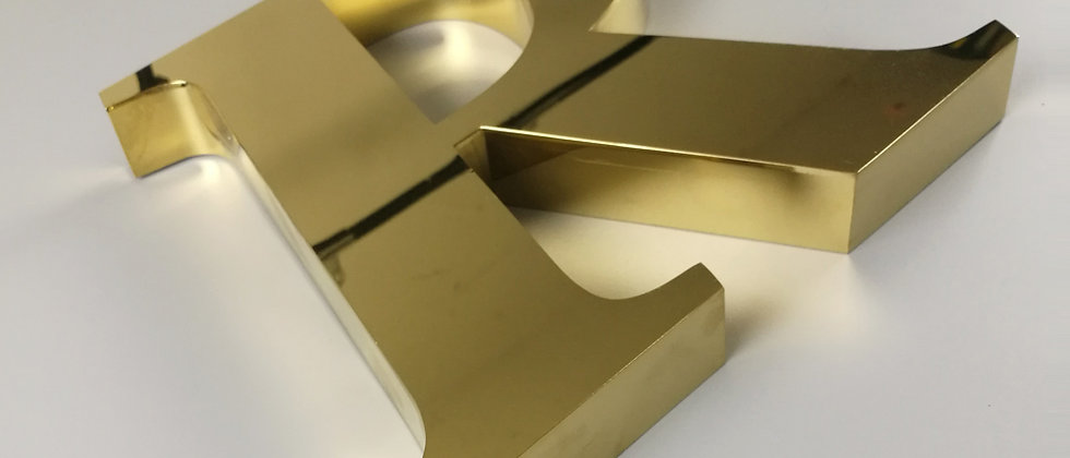 Wholesale individual mirror golden finished stainless steel metal channel letter