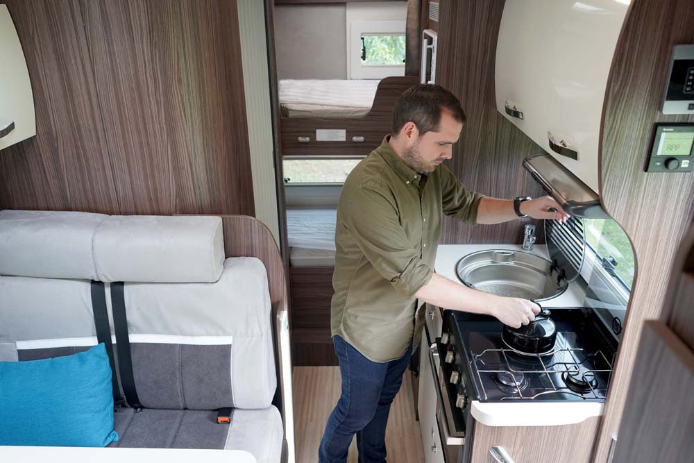 cooking in a motorhome