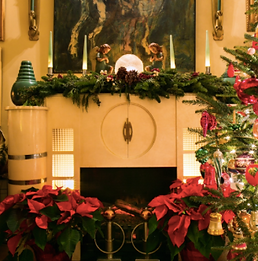 A Very Vintage Christmas | Fireplace