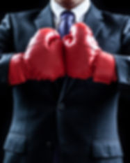Businessman , boxing gloves , fighting p