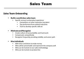 Building the Right Sals Team  San Diego Consultng California