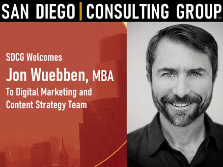 SDCG Welcomes Jon Wuebben, to Digital Marketing Leadership Team