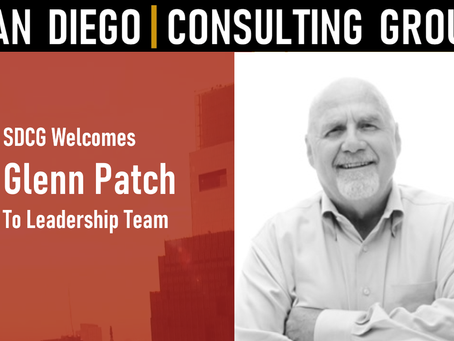 SDCG Welcomes Glenn Patch to Executive Leadership Team