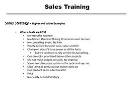 Complex Sales Training Why Deal Was Lost San Diego Consulting California