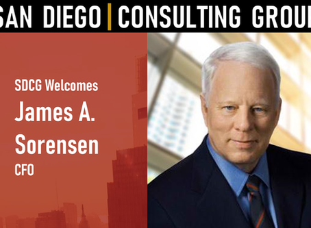 San Diego Consulting Group Welcomes James A. Sorensen Chief Financial Officer