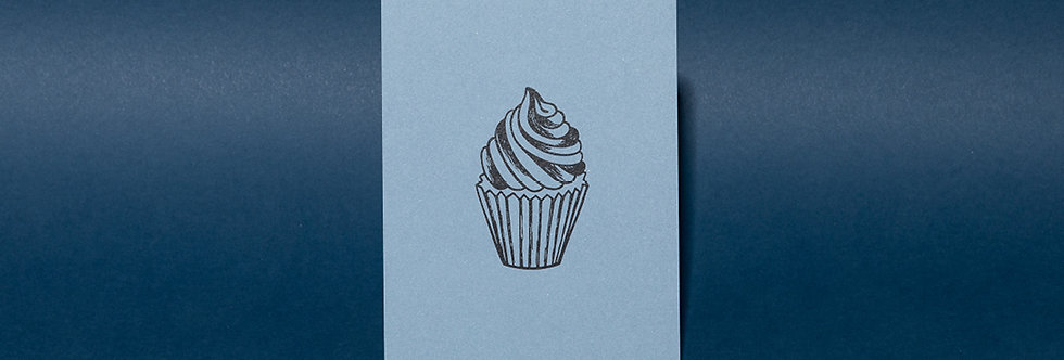 Cupcake - blau