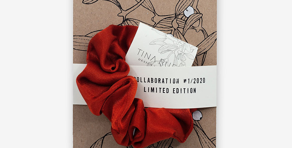 Karte & Scrunchie rot