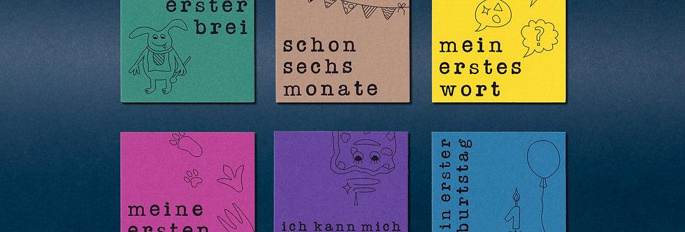 Monsterparty | Meilenstein-Kartenset | 16-teilig