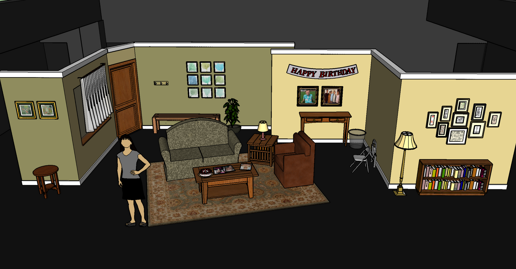 """Surprise Party"" SketchUp Original"