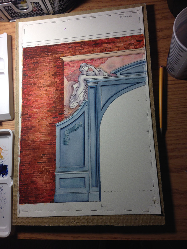 Course: Rendering I (Emerson College)  Medium: Watercolor