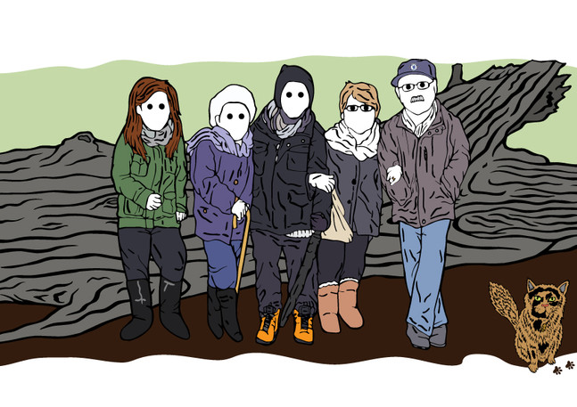 Final Rickman Family Portrait Illustration