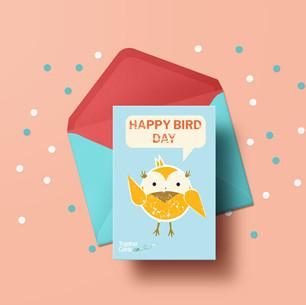 LeavingCard.com - Bird Card Design