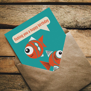 LeavingCard.com - Fish Card Design