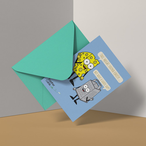 LeavingCard.com - Cheese & Grater Card Design