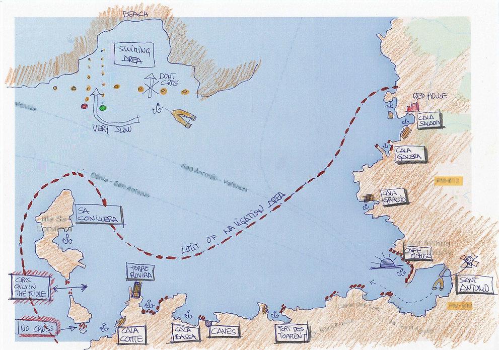 Yellow Boats Navegation Limits
