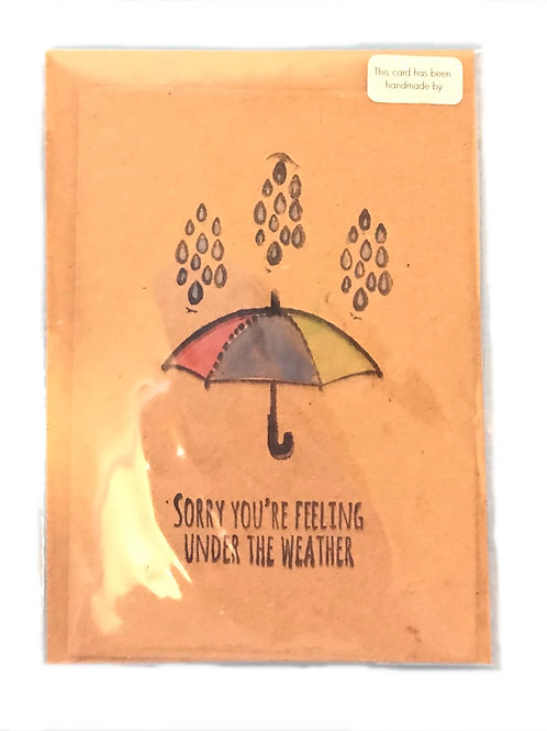 Sorry you're feeling under the weather card