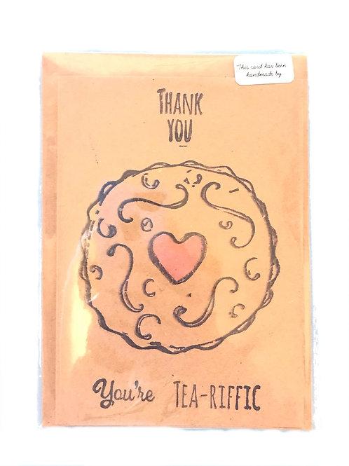 Thank you you're tea-rific card
