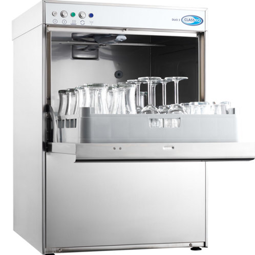 Classeq Duo 3 Glasswasher - 500mm Rack Size - WRAS
