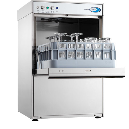 Classeq Duo 2 Glasswasher - 400mm Rack Size - WRAS