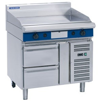 BS GP518-RB 1200mm Gas Griddle Refrigerated Base