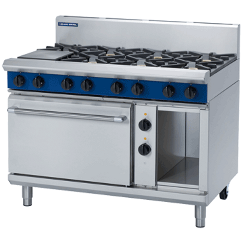 GE508D 1200mm 8Burner Gas Cooktop Electric Oven