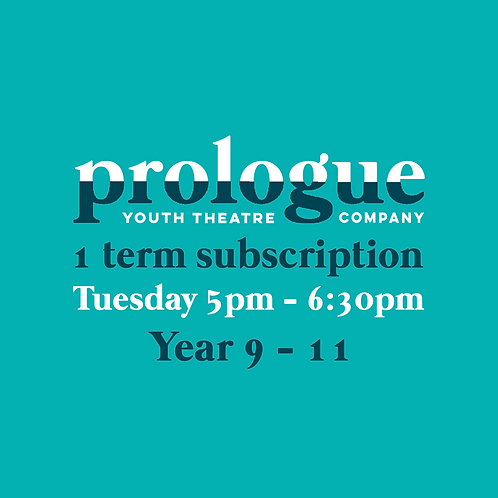 Tuesday Year 9-11 - 1 term subscription