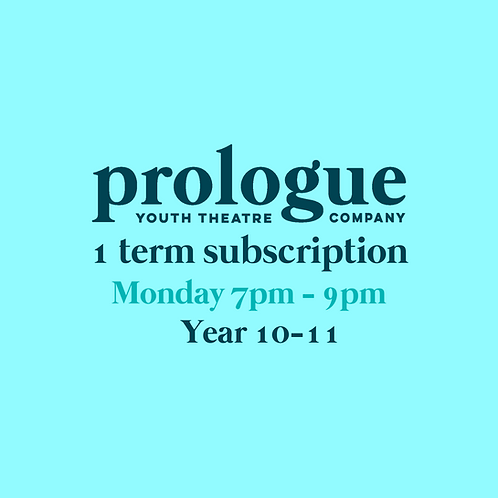 Monday Year 10-11 - 1 term subscription