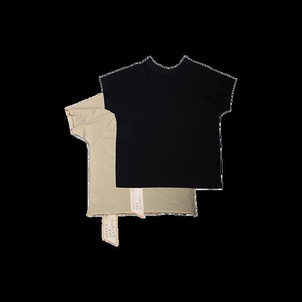 Handmade CALYPSO TEE MAVRO Tshirt SCHWARZ PILLOS BLACK BACKSIDE limited
