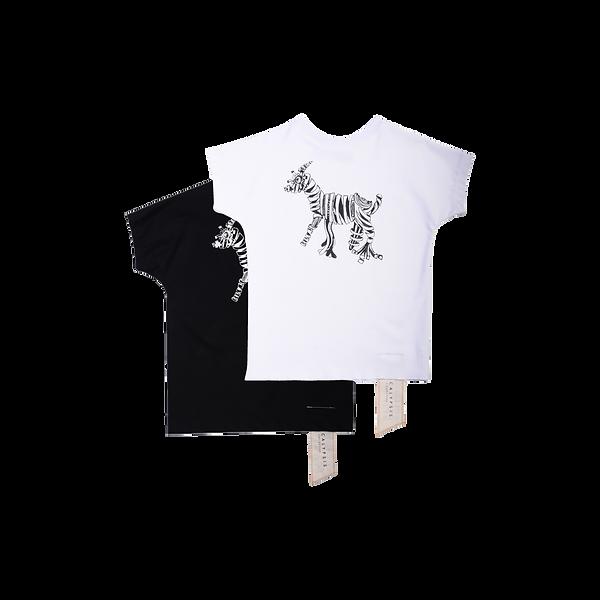 Handmade Tshirt T-shirt GOAT TEE LEFKO white black schwarz weiß ziege limited