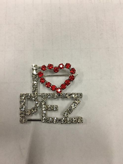 I Heart Pez Bling Pin