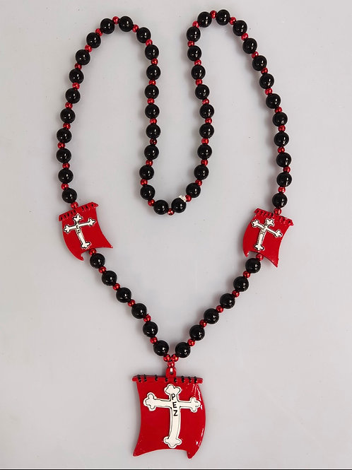 Beads Red Sail w/ Cross
