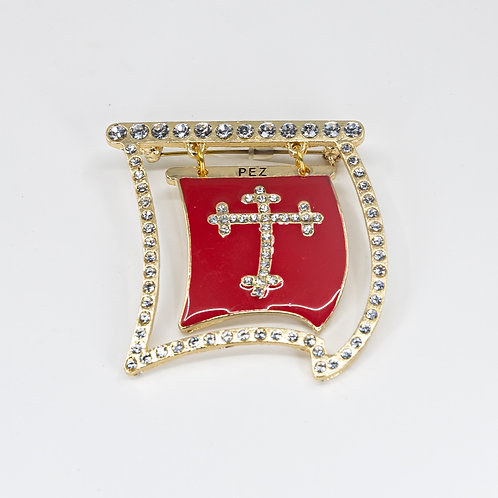 Ship Sail Bling Pin Red