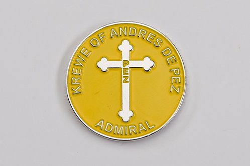 Admiral's Only! Round Enamel Pin