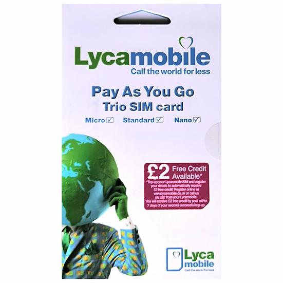 Lycamobile Pay As You Go Sim Card