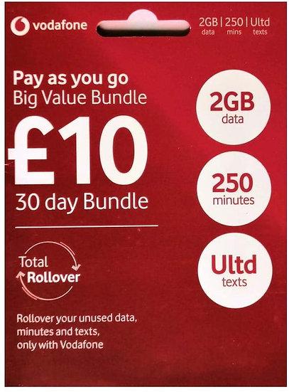 Vodafone Pay As You Go Sim Card