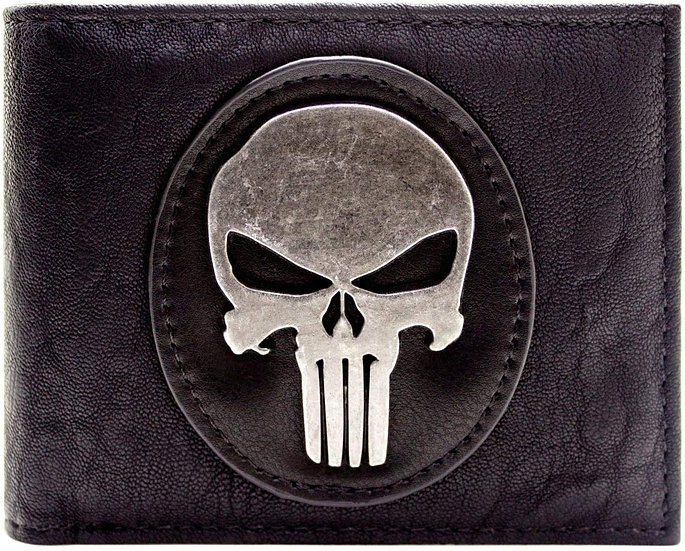Marvel The Punisher Silver Skull Badge Wallet