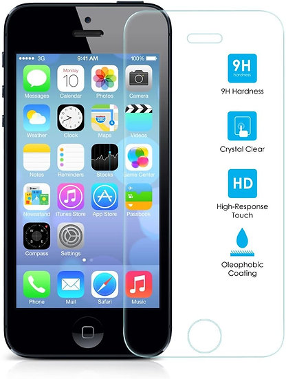 Tempered Glass Screen Protector (For iPhone 5/5S/5C/SE)