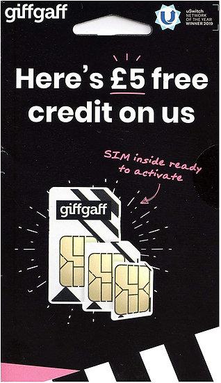 Giff Gaff Pay As You Go Sim Card