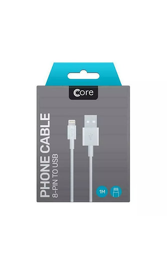 1 Metre Core iPhone Lightning Cable