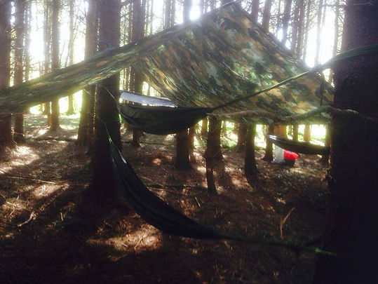We also can teach you how to set up your own hammock for resting outdoors