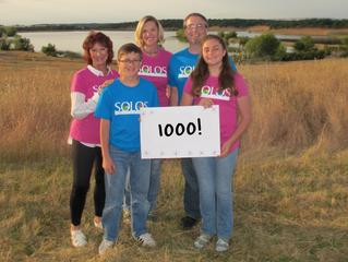 1000+ Members!  We surpassed our goal!!