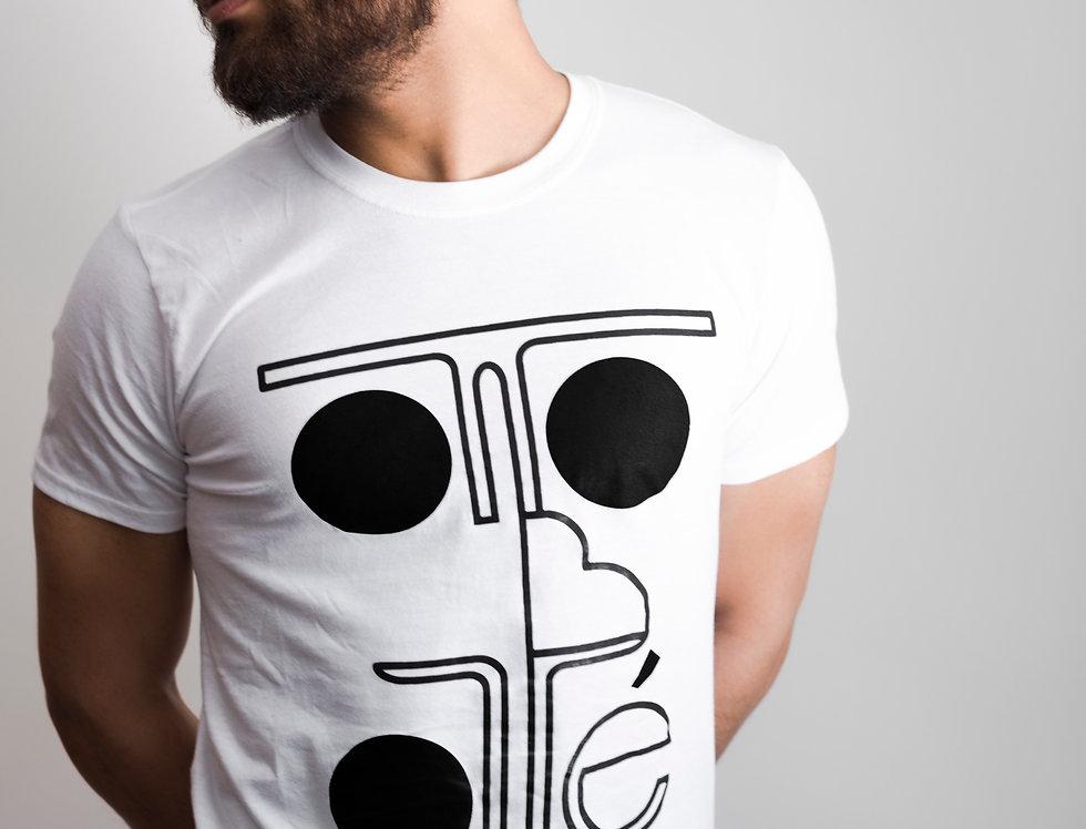 White T-shirt Otto Botté Mask